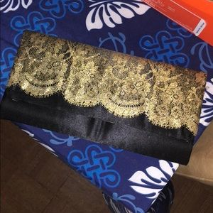 Handbags - Black & Gold clutch